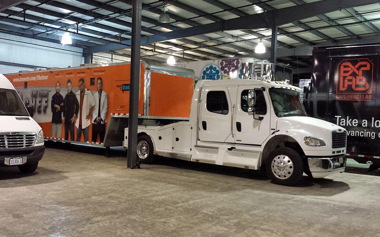 mobile marketing vehicle storage