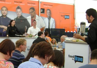 top chef cooking demonstration