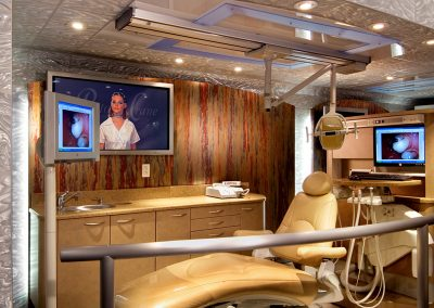 mobile dental office interior